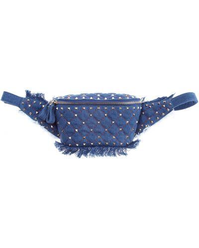 Поясная сумка с бахромой с пряжкой Valentino
