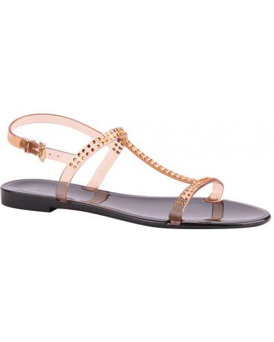 Силиконовые сандалии - оранжевые Menghi