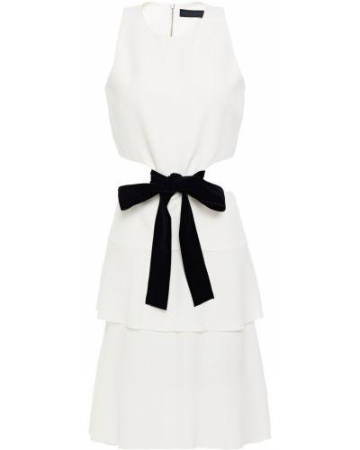Бархатное белое платье с подкладкой Proenza Schouler