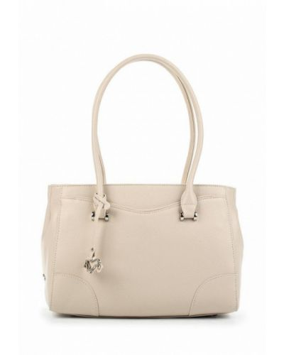 Бежевая кожаный сумка Labbra