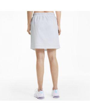 Белое платье с вышивкой с поясом Puma