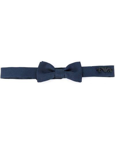 Синий шелковый галстук с бабочкой Emporio Armani Kids