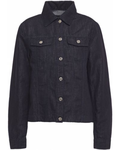Ватная синяя джинсовая куртка с карманами 7 For All Mankind
