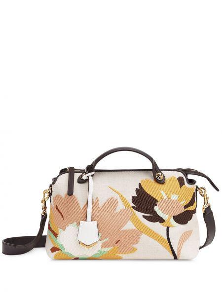 Skórzana torebka na ramię droga Fendi