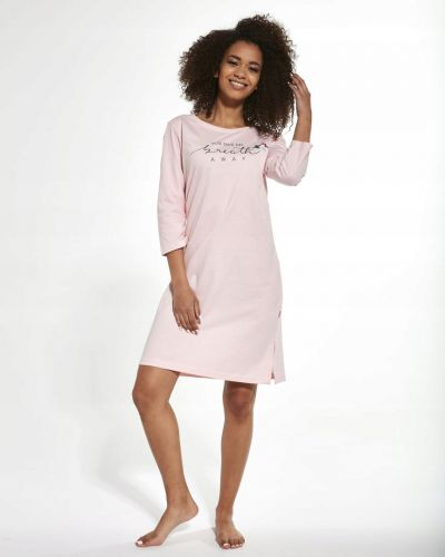 Różowa koszula nocna bawełniana Cornette
