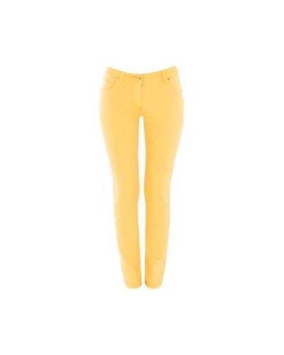 Желтые джинсы-скинни Class Cavalli