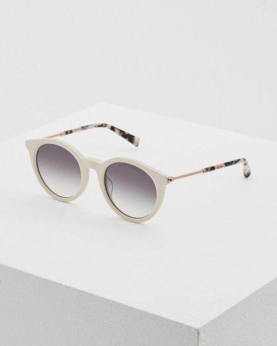 Бежевые солнцезащитные очки Max Mara