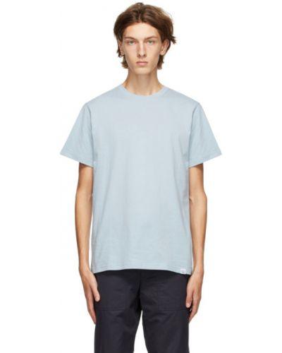 Bawełna niebieski koszula krótkie z krótkim rękawem krótkie rękawy z kołnierzem Norse Projects