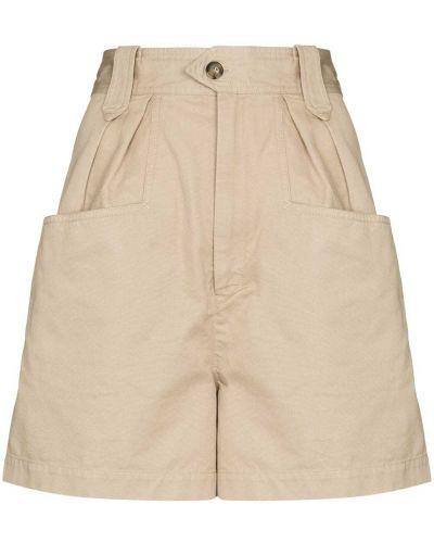 Бежевые хлопковые шорты Isabel Marant étoile
