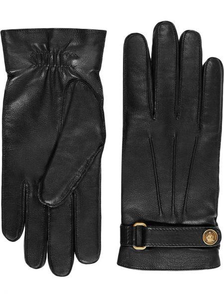 Skórzany rękawiczki prążkowany elastyczny Gucci