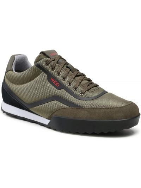 Buty sportowe skorzane - zielone Hugo