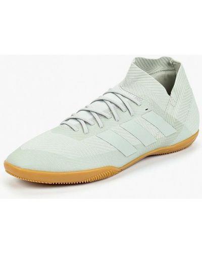Серые бутсы зальные Adidas