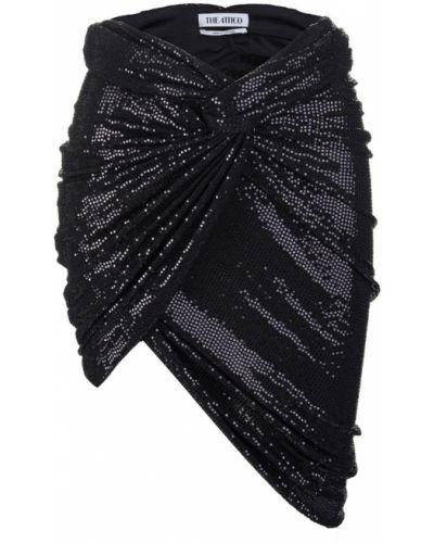 Czarna spódnica z cekinami The Attico