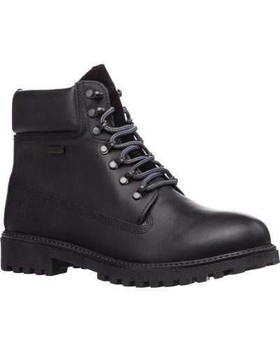 Черные кожаные ботинки с подкладкой Lumberjack
