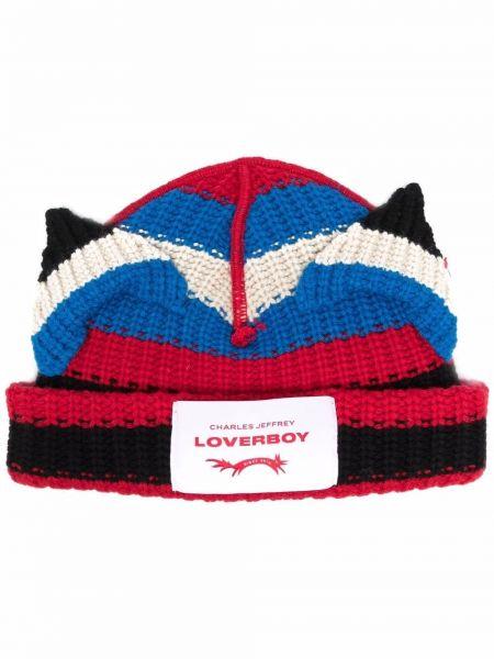 Niebieska czapka wełniana Charles Jeffrey Loverboy