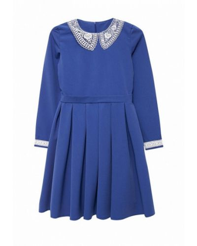 Платье осеннее синий Shened