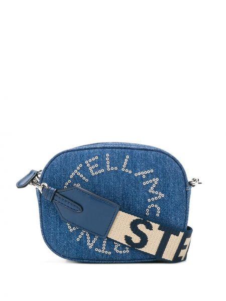 Сумка через плечо джинсовая на молнии Stella Mccartney