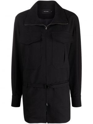 Черная куртка на молнии с воротником Low Classic