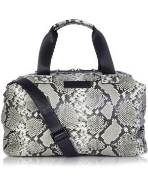 Czarna torba na ramię z nylonu z printem Tiba + Marl