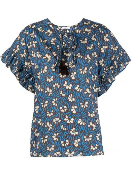 Блузка с короткими рукавами со вставками с вырезом P.a.r.o.s.h.
