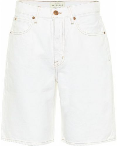 Ватные хлопковые белые джинсовые шорты Slvrlake