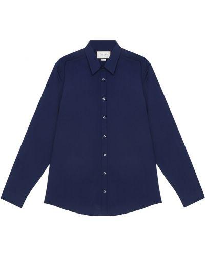 Синяя рубашка Gucci