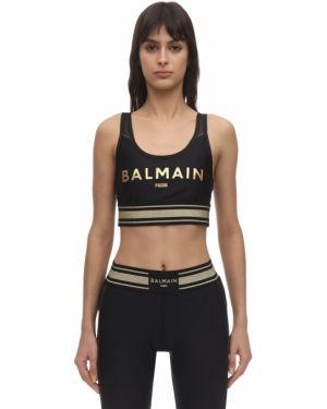 Czarny biustonosz sportowy Puma X Balmain