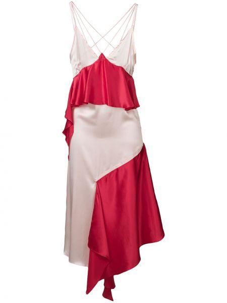 Sukienka asymetryczna z jedwabiu Each X Other