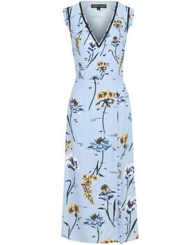 Платье миди с V-образным вырезом из вискозы Markus Lupfer