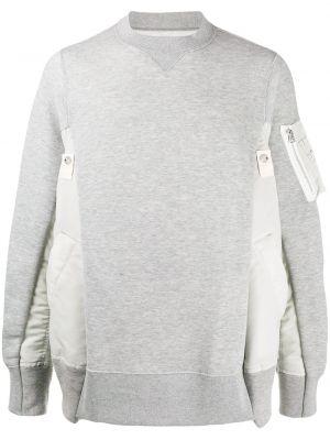 Bluza z długimi rękawami asymetryczna bawełniana Sacai