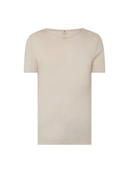 T-shirt bawełniana - beżowa Cinque