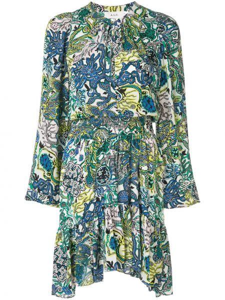 Платье макси на пуговицах шелковое Alc