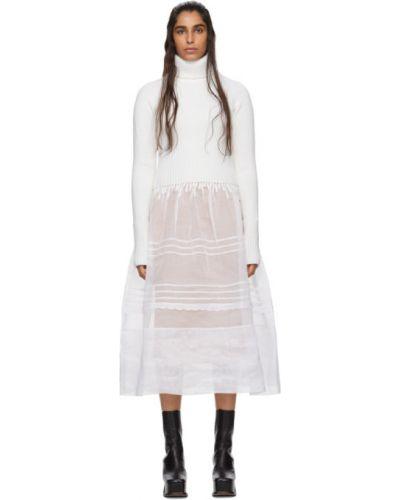 Платье макси вязаное с отложным воротником Loewe