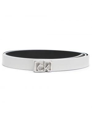 Кожаный ремень - серый Calvin Klein