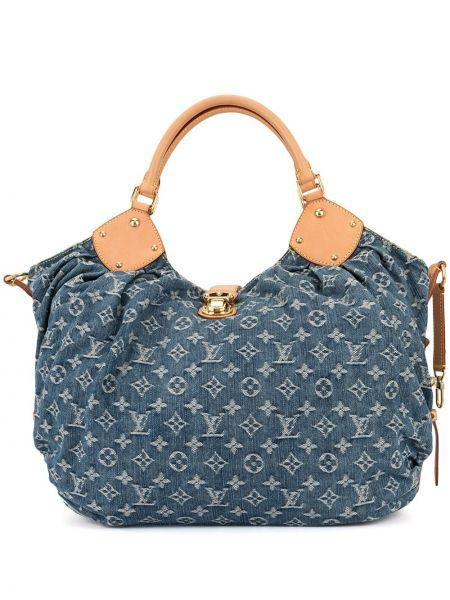Кожаная сумка сумка-тоут джинсовая Louis Vuitton