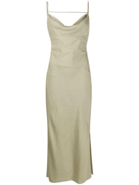 Приталенное платье с открытой спиной на бретелях из вискозы Jacquemus