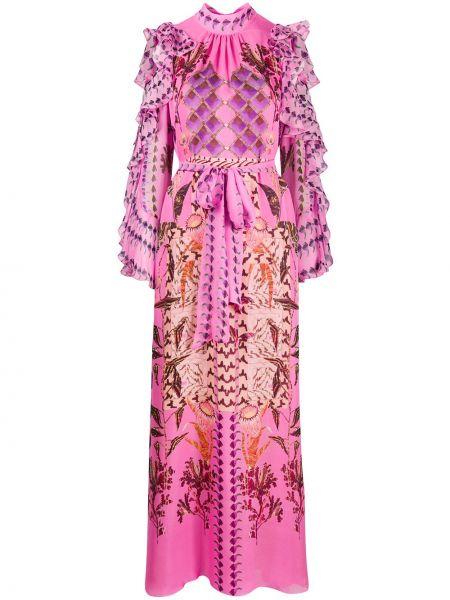 Платье с цветочным принтом с открытыми плечами Temperley London
