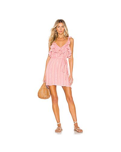 Розовое платье мини с люрексом Sundress