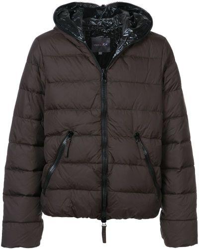 Длинная куртка с капюшоном дутая Duvetica