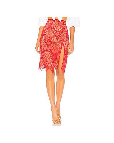 Красная юбка миди Majorelle