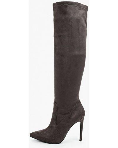Велюровые серые сапоги Diora.rim