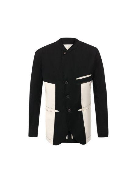 Куртка черная льняная Ziggy Chen