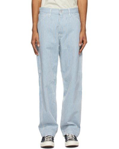 Белые брюки в полоску с карманами Levi's®