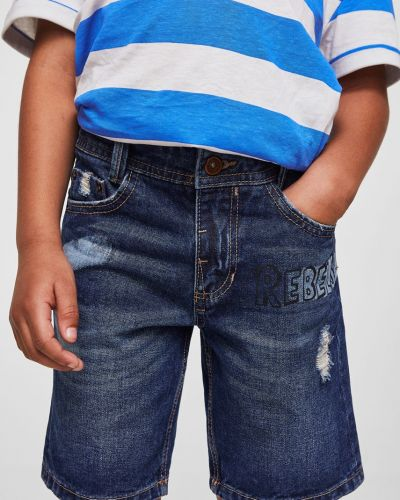 Шорты хлопковые с карманами Mango Kids