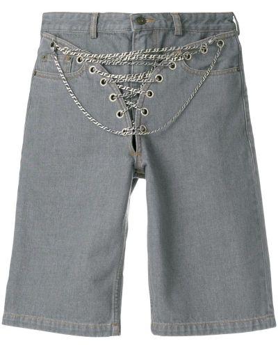 Серые джинсовые шорты со стразами Y/project
