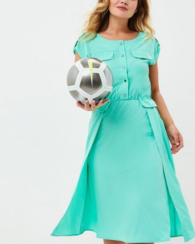 Платье весеннее бирюзовый Aelite