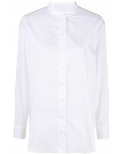 Хлопковая белая рубашка с длинными рукавами Closed