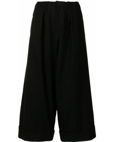 Czarne spodnie wełniane Ys