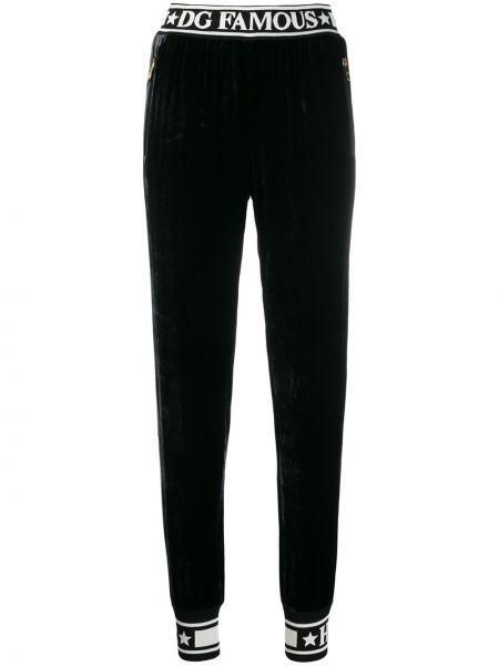 Sportowe spodnie z kieszeniami jedwab Dolce And Gabbana