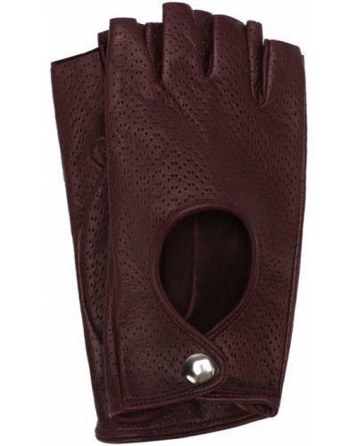 Кожаные перчатки с узором с перфорацией Sermoneta Gloves